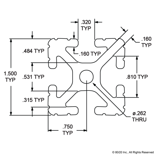 "80//20 Inc 15 Series  T-Slot Aluminum Extrusion 1515-UL-BLACK x 72/"" Long N"
